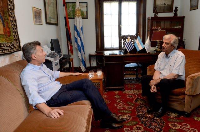Mauricio Macri y Tabaré Vázquez
