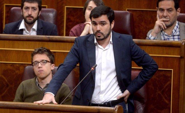 Alberto Garzón, en el Pleno del Congreso
