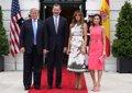 TRUMP DICE ANTE LOS REYES QUE VIAJARA A ESPANA Y DESTACA LA RELACION EXCELENTE ENTRE LOS PAISES