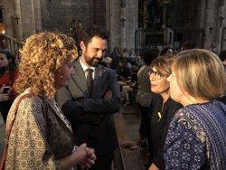 Torra i Torrent assisteixen a una pregària interreligiosa en suport a les famílies dels presos sobiranistes (@JUSTICIACAT)