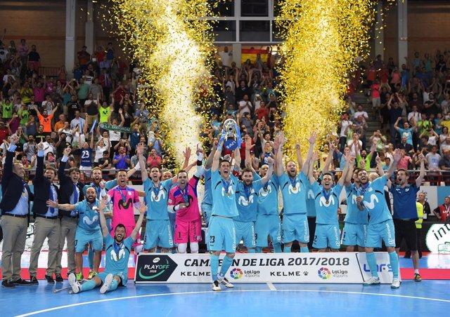 El Movistar Inter, campeón de la Primera División del fútbol sala 2017-18