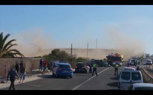 Fallecen dos mujeres en una colisión entre un turismo y una furgoneta en Granadilla (Tenerife)