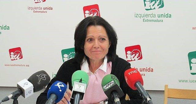 Encarna Muñoz, aspirante a liderar IU Extremadura