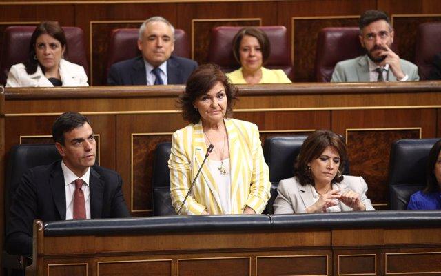 Calvo acusa a Ciudadanos de primar sus 'intereses' frente a los derechos de la mujer con la gestación subrogada