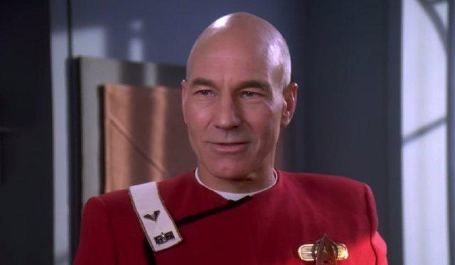 Patrick Stewart en Star Trek: La nueva generación