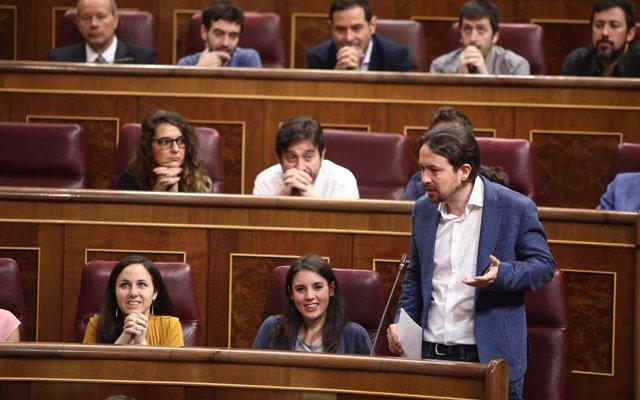 Iglesias pide a Sánchez una mesa de coordinación parlamentaria para una 'agenda legislativa conjunta'