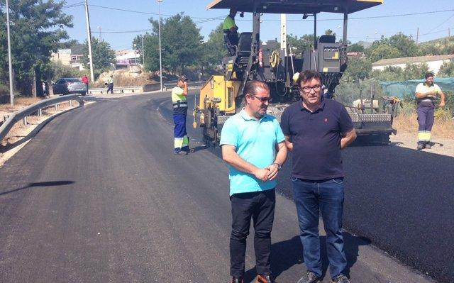 La Diputación de Jaén finaliza la adecuación de la principal carretera de acceso a Castillo de Locubín