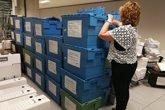 Foto: La Audiencia recibe 56 contenedores con el expediente del caso Cooperación para el juicio por las piezas 2 y 3