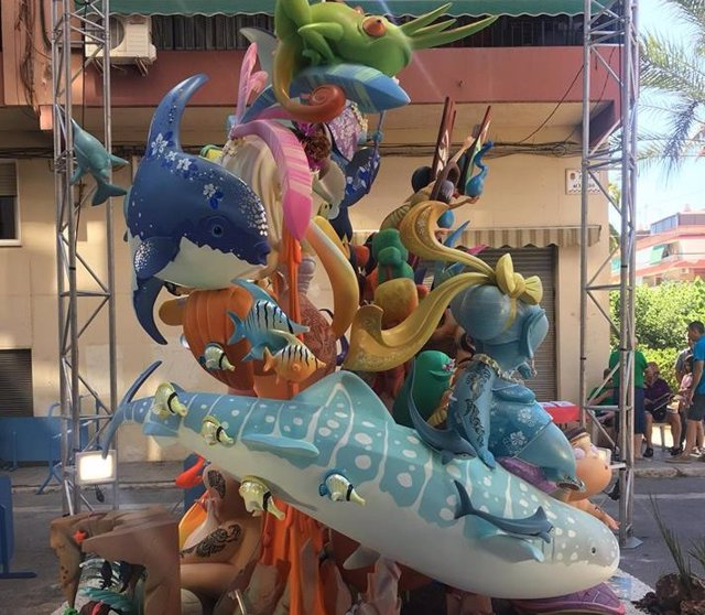 Foguera infantil ganadora de 2018