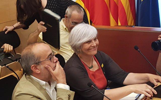 Quim Torra agradece a Dolors Sabater su gestión al frente del Ayuntamiento de Badalona