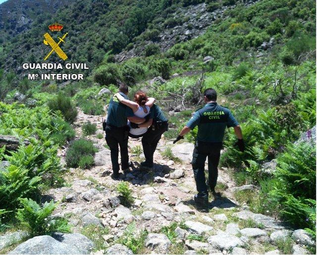 Rescate senderistas en Gujio de Santa Bárbara