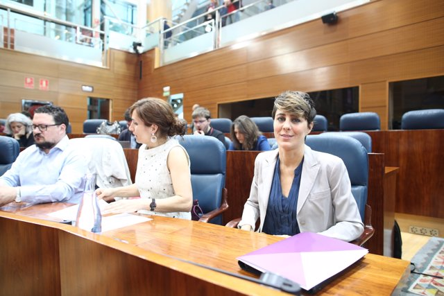 Lorena Ruiz-Huerta durante el pleno de investidura de Ángel Garrido