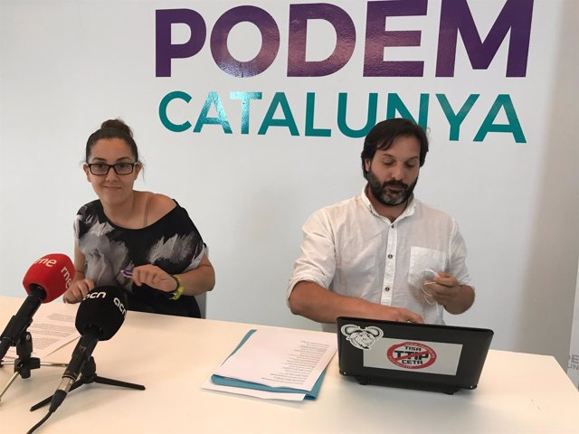 Conchi Abellán y Jaume Durall (Podem Catalunya)