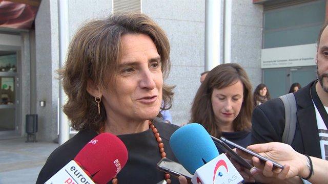 La ministra para la Transición Ecológica, Teresa Ribera, en la Feria Genera