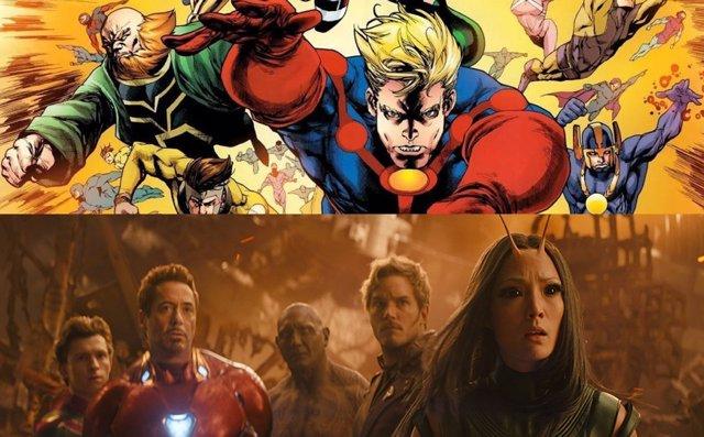 Los Eternos y Vengadores: Infinity War