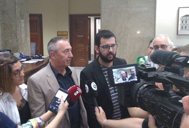Els diputats Joan Baldoví i Ignasi Candela