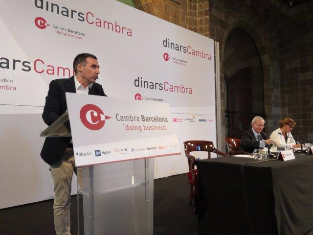 Conferencia del presidente de Barcelona Tech City, Miguel Vicente