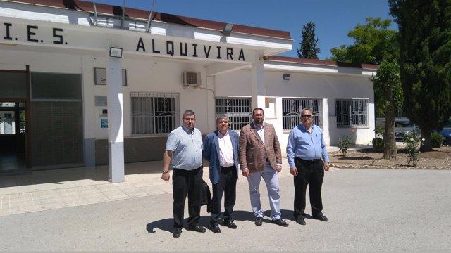 Visita al instituto de Educación Secundaria Alquivira
