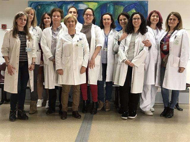 Profesionales de la unidad multidisciplinar de ELA