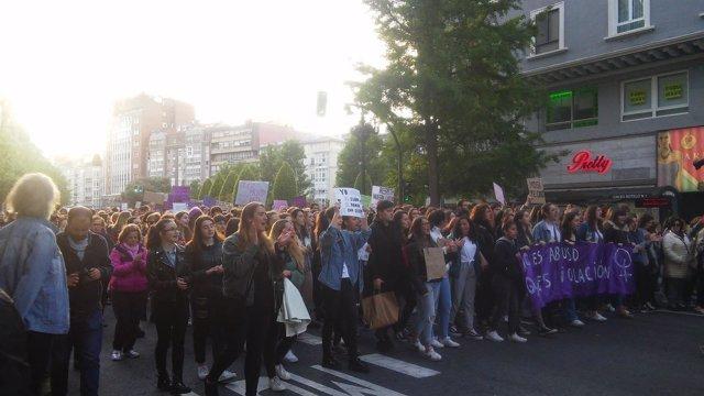 Manifestación contra la sentencia La Manada