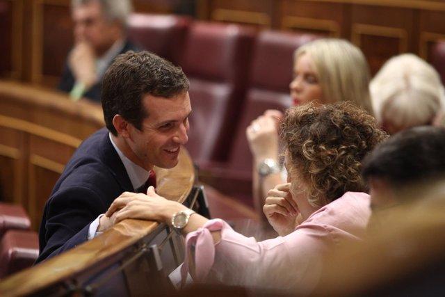 Pablo Casado en la sesión de control al Gobierno en el Congreso