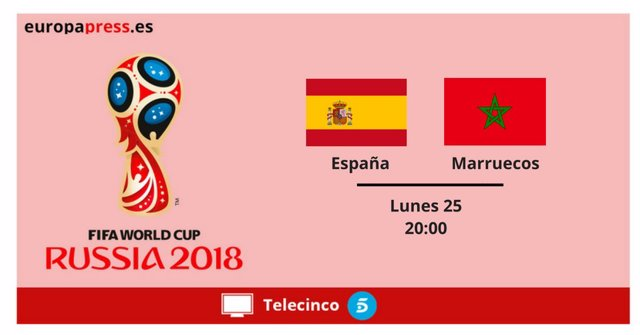 Horario y dónde ver el España - Marruecos del Mundial 2018