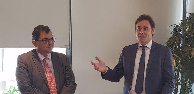 Marco Aguiriano con Jorge Toledo