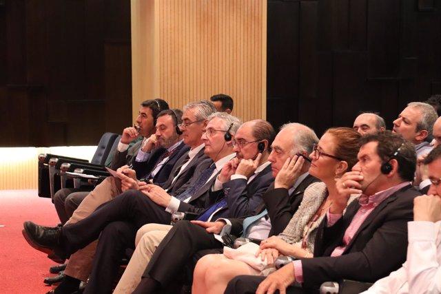 Javier Lambán este viernes en el XII Congreso Internacional Terroir.