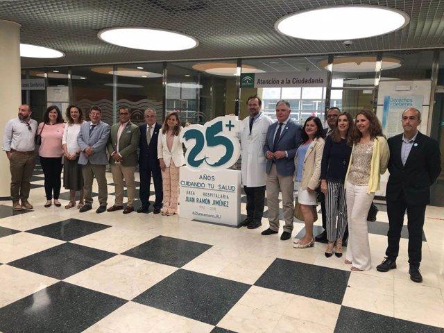 Acto del 25 aniversario del hospital Juan Ramón Jiménez.
