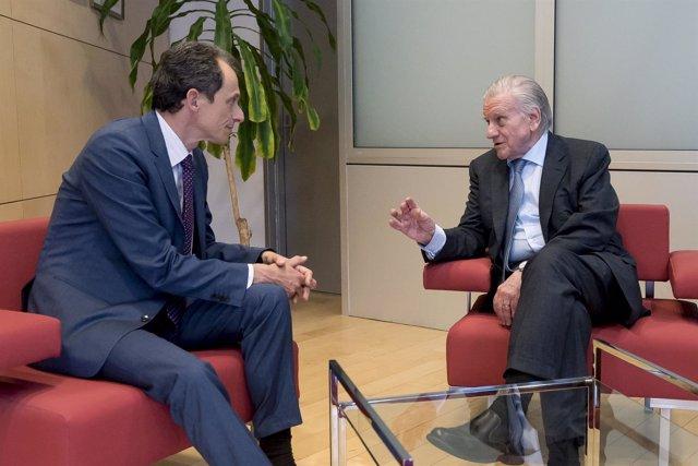 Pedro Duque Y El Director General Del CNIC, Valentín Fuster