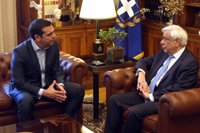 Alexis Tsipras y Prokopis Pavlopoulos