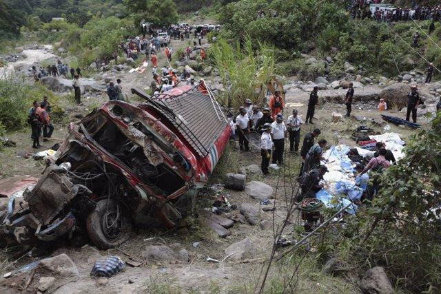 Accidente de autobús en Guatemala