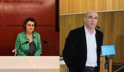 Goretti Sanmartín y Jorquera, candidatos del BNG en Santiago y A Coruña