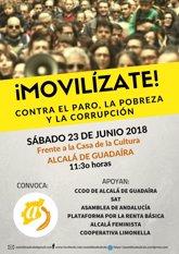 """Foto: Convocan una manifestación este sábado en Alcalá en demanda de soluciones al """"paro, la pobreza y la corrupción"""""""