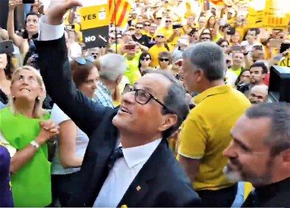 Quim Torra va a la movilización de la ANC en Tarragona antes de ir a la inauguración de los Juegos