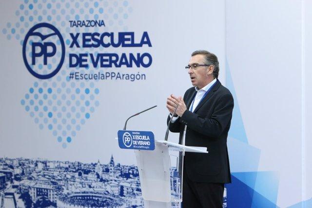 El presidente del Partido Popular en Aragón, Luis María Beamonte