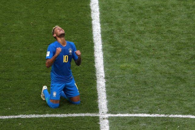El delantero de la selección brasileña Neymar