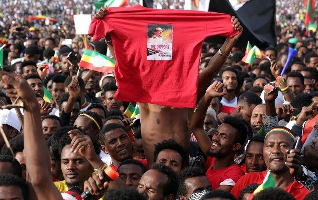 Mitín en Etiopía del primer ministro