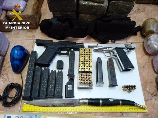 Armas intervenidas por la Guardia Civil