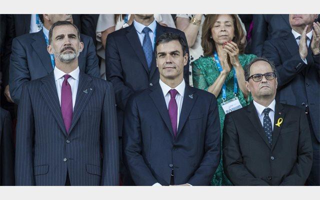 Sánchez cree que el encuentro con el Rey y Torra en Tarragona 'dice mucho de la voluntad de recomponer relaciones'