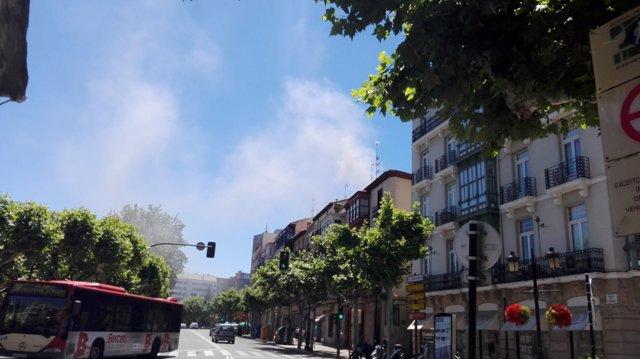 Incendio vivienda en la calle San Juan