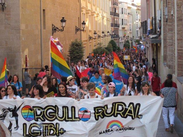Manifestación Orgullo Rural LGTBI+