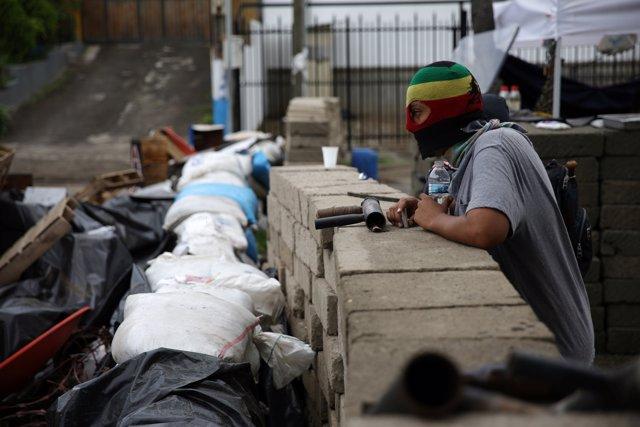 Barricada en Managua