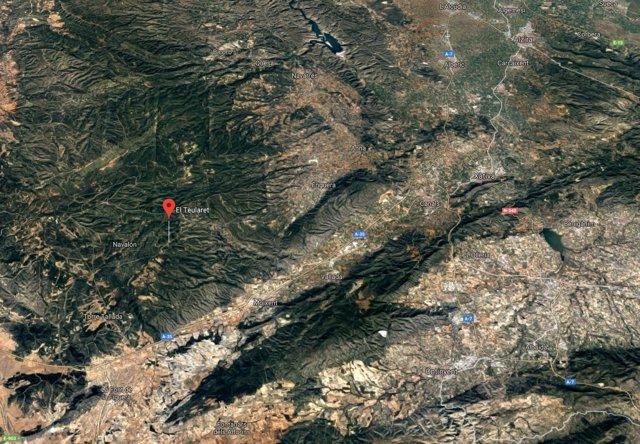 Localización del Teularet en Enguera (Valencia)