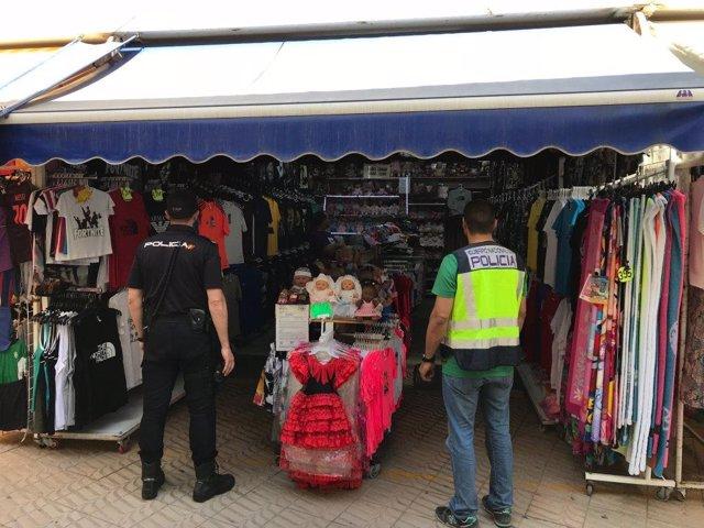 Establecimiento con venta de productos falsificados en Benidorm