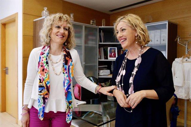 Díaz Tezanos con la alcaldesa de Polanco