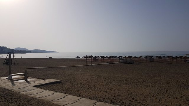 Playas limpias de Málaga tras la noche de San Juan
