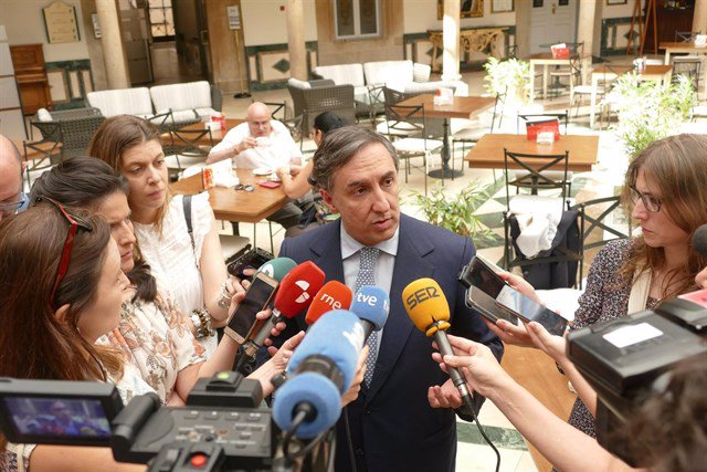 El candidato a la presidencia del PP, José Ramón García Hernández