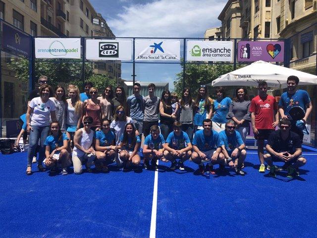 Ganadores del IV Torneo Pádel de la Asociación Navarra de Autismo