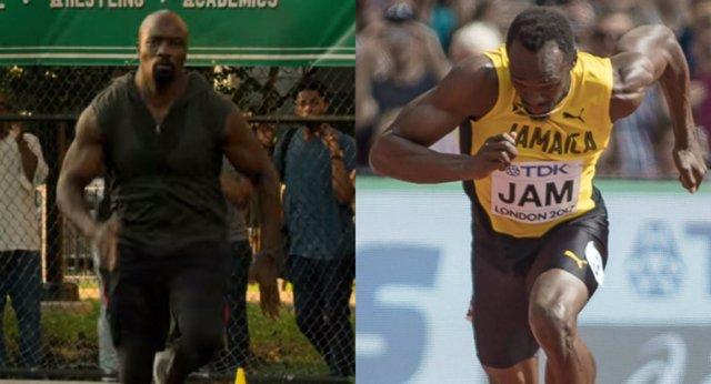 Luke Cage y Usain Bolt